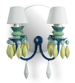 Lladro Lighting-Belle de Nuit 2 Lights Wall Sconce Green