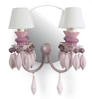 Lladro Lighting-Belle de Nuit 2 Lights Wall Sconce Pink