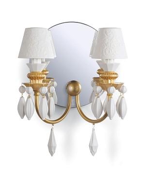 Lladro Lighting-Belle de Nuit 2 Lights Wall Sconce Golden Luster