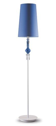 Lladro Lighting-Belle de Nuit Floor Lamp I Blue