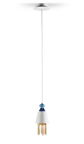 Lladro Lighting-Belle de Nuit Ceiling Lamp with Lithophane and Tears Multicolor