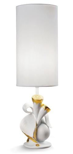 Lladro Lighting-Naturofantastic Living Nature Table Lamp Golden Luster