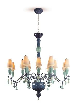 Lladro Lighting-Ivy and Seed 16 Lights Chandelier Medium Flat Model Ocean