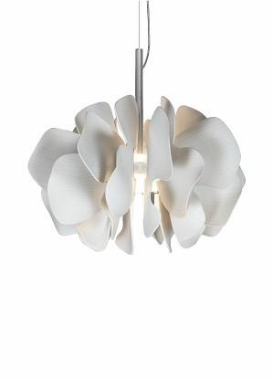 Lladro Lighting-Nightbloom Hanging Lamp 40cm White