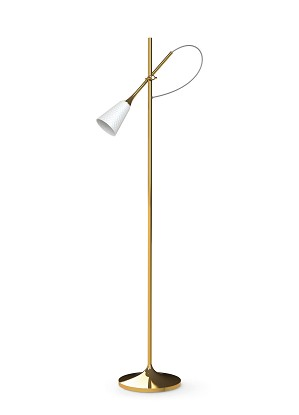 Lladro Lighting-Jamz Floor Reading Lamp Gold