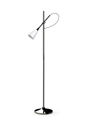 Lladro Lighting-Jamz Floor Reading Lamp Black