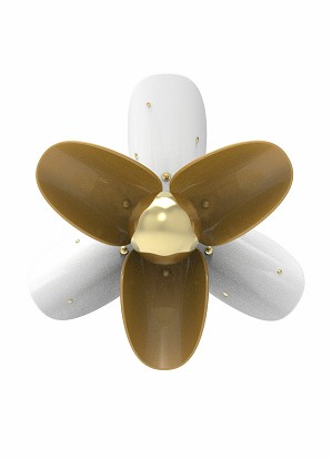 Lladro Lighting-Blossom Wall Sconce White and gold