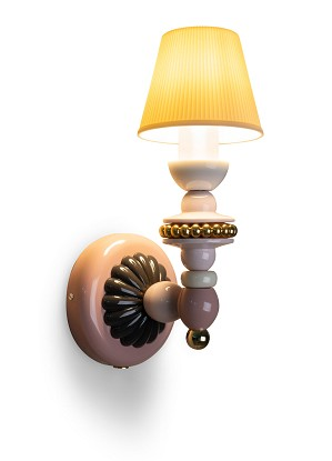 Lladro Lighting-Firefly Wall Sconce Pink and gold