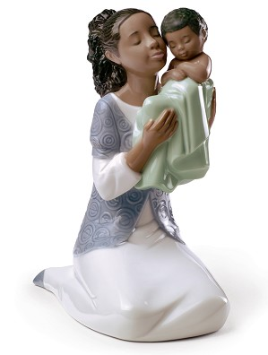 Nao Porcelain African American-IN LOVING ARMS