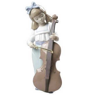 Nao Porcelain-GIRL WITH CELLO