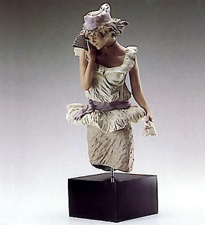 Lladro-Young Lady With Fan