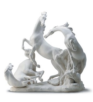Lladro-Horse's Group in White 1969-05