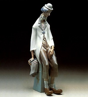 Lladro-Clown with Concertina 1969-93