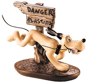WDCC Disney Classics-The Delivery Boy Pluto Dynamite Dog