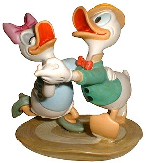 WDCC Disney Classics-Daisy & Donald Oh Boy What A Jitterbug
