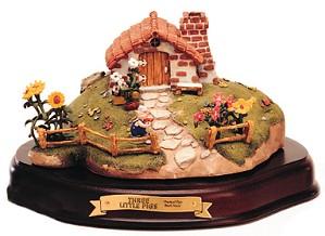 WDCC Disney Classics-Three Little Pigs Practical Pig Brick House