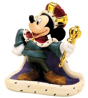 WDCC Disney Classics-The Prince And The Pauper Mickey Mouse Long Live The King