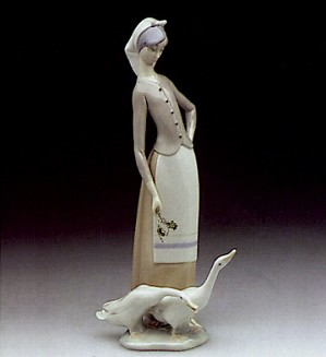 Lladro-Girl With Geese 1969-95