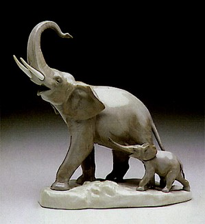Lladro-Two Elephants 1971-99