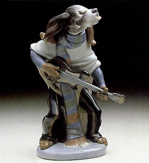 Lladro-Dog Playing Guitar 1971-78