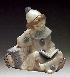 Lladro-Girl with Accordion 1971-81