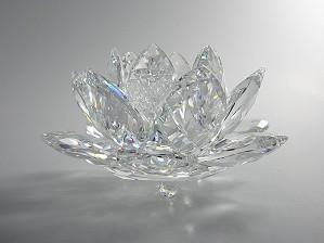 Swarovski Crystal-Swarovski Waterlily Candleholder Large