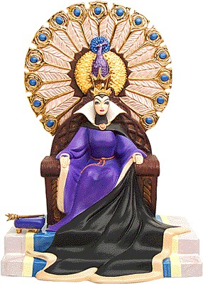 WDCC Disney Classics-Snow White Evil Queen Enthroned Evil