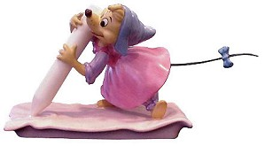 WDCC Disney Classics-Cinderella Chalk Mouse (perla) No Time For Dilly Dally