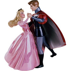 WDCC Disney Classics-Sleeping Beauty Princess Aurora And Prince Phillip A Dance In The Clouds (pink)