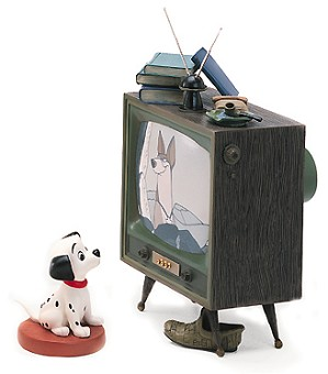 WDCC Disney Classics-One Hundred and One Dalmatians Lucky And Television