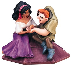 WDCC Disney Classics-The Hunchback Of Notre Dame Esmerelda And Quasimodo Not A Single Monster Line