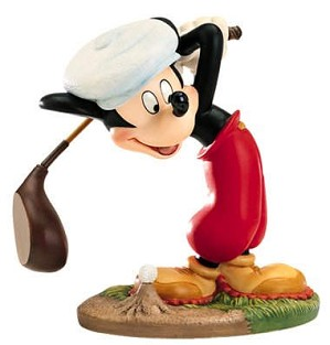 WDCC Disney Classics-Canine Caddy Mickey Mouse What A Swell Day For A Game Of Golf
