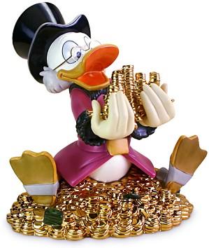 WDCC Disney Classics-Scrooge McDuck Money! Money! Money!