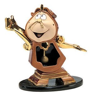 WDCC Disney Classics-Beauty And The Beast Cogsworth Just In Time