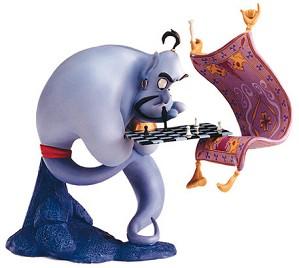 WDCC Disney Classics-Aladdin Genie I'm Losing To A Rug