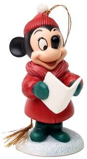 WDCC Disney Classics-Plutos Christmas Tree Minnie Mouse Caroler Minnie Ornament