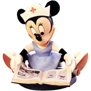 WDCC Disney Classics-First Aiders Minnie Mouse Student Nurse