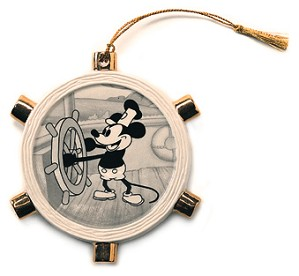 WDCC Disney Classics-Steamboat Willie Mickey Mouse Ornament