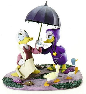 WDCC Disney Classics-Fantasia 2000 Donald And Daisy Looks Like Rain