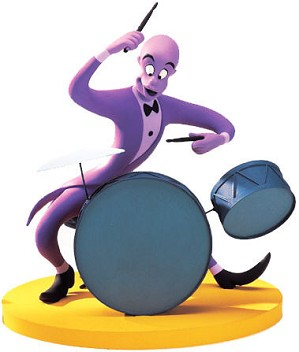 WDCC Disney Classics-Fantasia 2000 Duke Drumming Up A Dream