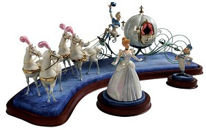 WDCC Disney Classics-Cinderella & Coach Off To The Ball