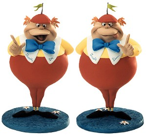 WDCC Disney Classics-Alice In Wonderland Tweedle Dee & Tweedle Dum