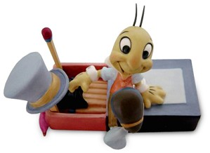 WDCC Disney Classics-Pinocchio Jiminy Cricket Let Your Conscience Be Your Guide