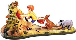 WDCC Disney Classics-Pooh and Friends Hooray, Hooray, for Pooh Will Soon Be Free