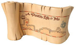 WDCC Disney Classics-Pirates Of The Caribbean A Pirates Life For Me Title Scroll