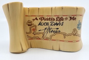 WDCC Disney Classics-Pirates Of The Caribbean A Pirates Life For Me Title Scroll Signed By Alice Davis, and Pacheo