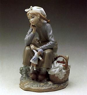 Lladro-Dutch Girl With Doll 1972-84