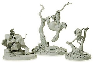 WDCC Disney Classics-Tarzan Tantor and, Terk Maquettes (matched numbered Set)