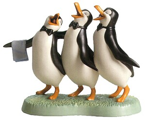 WDCC Disney Classics-Penguin Trio Anything for You, Mary Poppins From Mary Poppins