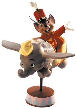 WDCC Disney Classics-Dumbo Timothy Mouse In Dumbo Ride Flight Over Fantasyland